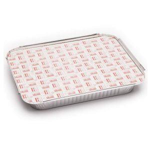 Bandeja aluminio rectangular con tapa