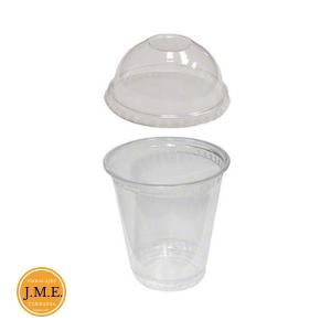 Vaso plástico con cúpula para alimentos