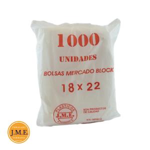 bolsa mercado con block