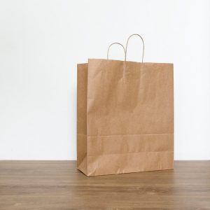Bolsa cartón con asa