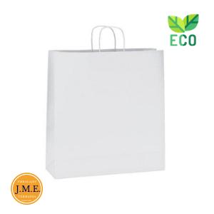 Bolsas papel blanca con asa