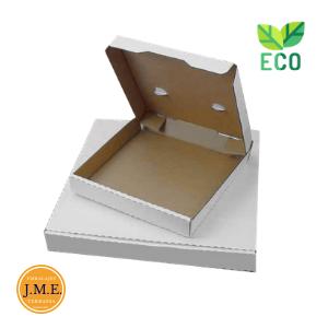 Cajas de pizza blancas