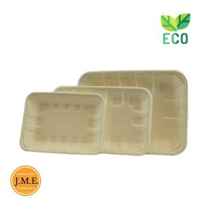 Bandejas biodegradables para alimentos
